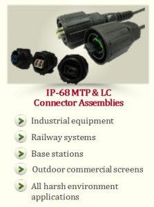 IP-68 MTP & LC Connector Assemblies
