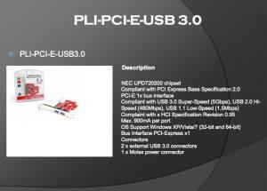 PLI-PCI-E-USB 3.0