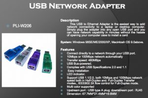 PLI-W206 USB NETWORK ADAPTER