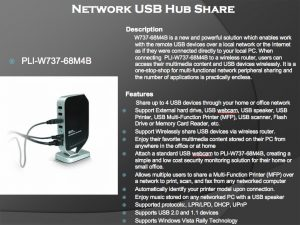 PLI-W737-68M4B NETWORK USB HUB SHARE